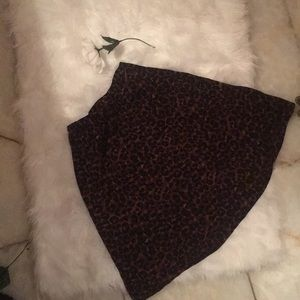 Leopard printed skirt 🐆